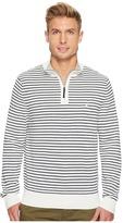 Nautica 12 Gauge Striped 1/4 Zip Men's Sweater
