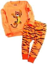 "Babylike ""tiger"" little boys 2 Piece Pajama 100% Cotton(Size 2-7 Years)"