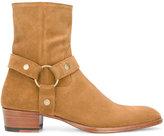 Saint Laurent Signature Wyatt 40 harness boots