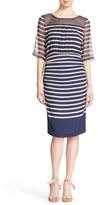 Tracy Reese Print Stretch Silk Blouson Dress