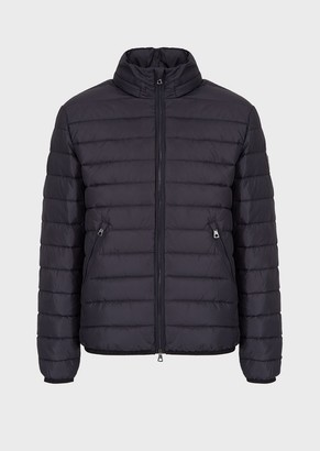 Ea7 Padded Down Jacket With Full-Length Zip