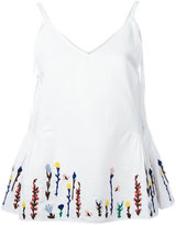 MiH Jeans embroidered flowers cami - women - Cotton/Linen/Flax - L