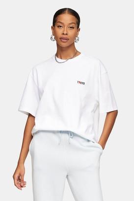 Topman Womens Tokyo T-Shirt In White - White