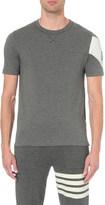 Moncler Gamme Bleu Striped sleeve cotton-jersey t-shirt
