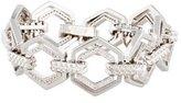 Eddie Borgo Crystal Lattice Link Bracelet