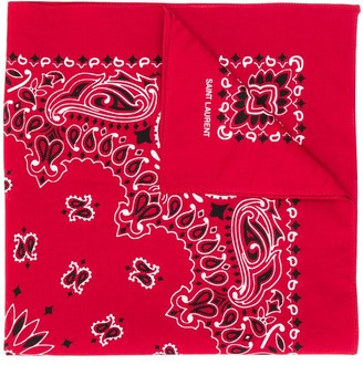 Saint Laurent paisley print bandana