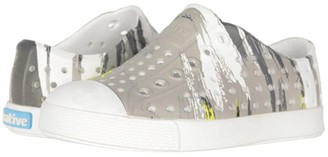Native Jefferson Print (Toddler) (Shell White/Shell White/Green Multi Splatter) Boy's Shoes