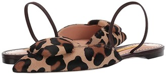 Rupert Sanderson Sabine Pointed Pebble Flat (Leopard Pony) Women's Shoes