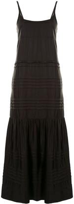 Lee Mathews Emiko pintucked slip dress