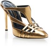 Oscar de la Renta Carmen Gold Cutout Mules