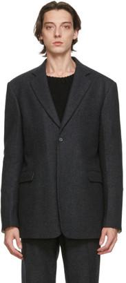 Raf Simons Grey Wool Straight Fit Blazer