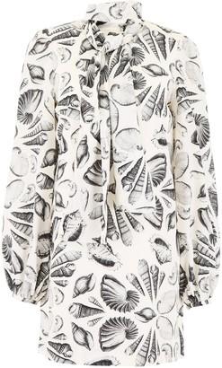 Alexander McQueen Shells Print Dress