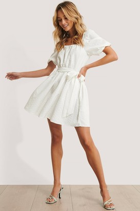 NA-KD Tie Waist Structured Mini Dress