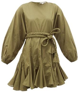 Rhode Resort Ella Cotton Mini Dress - Dark Green