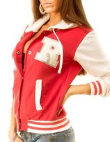 NOROZE Womens Baseball R Varsity Jacket Hoody (2XL, )