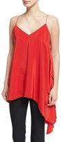 Cinq à Sept Clothing Romeo Sleeveless V-Neck Draped Top, Venetian Red