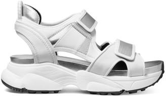 MICHAEL Michael Kors Harvey Mixed-Media Metallic Sport Sandals