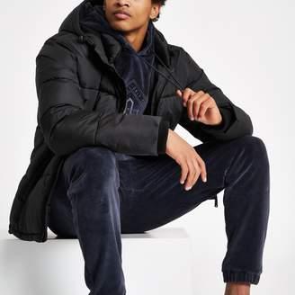 River Island Mens Black 'Prolific' padded puffer coat