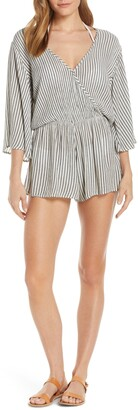 Elan International Stripe Cover-Up Romper