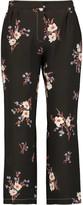 Nina Ricci Floral-print silk pants