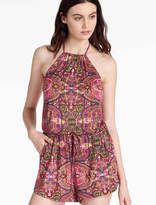Lucky Brand Tapestry High Neck Romper
