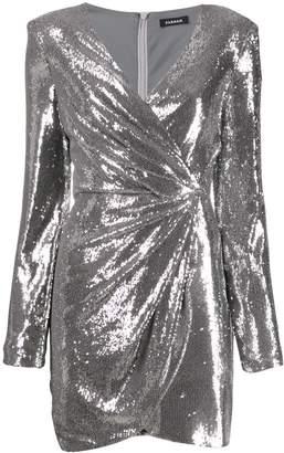 P.A.R.O.S.H. sequin wrap mini dress
