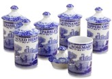 "Spode Blue Italian"" Spice Jars, Set of 6"