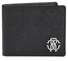 Roberto Cavalli Textured Leather Bi-Fold Wallet