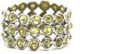 Tresor Collection - Rose cut organic diamond triple row ring band in 18k white gold