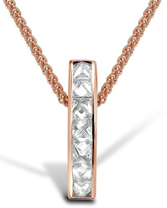 Pragnell 18kt rose gold Rockchic diamond bar pendant necklace