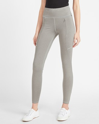 Express High Waisted Seamed Front Zip Compression Leggings