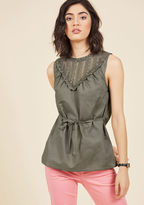 Fashion Your Fairytale Sleeveless Top in Slate in S