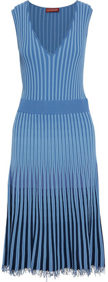 Altuzarra Tunbridge Frayed Ribbed-knit Midi Dress