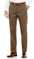 Perry Ellis Non-Iron Regular-Fit Flat-Front Solid Textured Pants