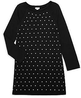 Splendid Girl's Long-Sleeve Embellished Star Dress