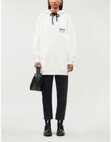 Anine Bing Lottie logo-print cotton-jersey hoody