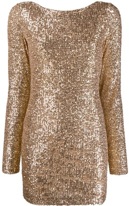 In The Mood For Love Moss sequin-embellished mini dress