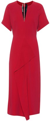 Roland Mouret Tresta stretch crApe midi dress