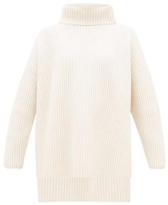 Joseph Oversized Ribbed-merino Wool Roll-neck Sweater - Womens - Cream