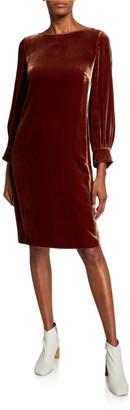Lafayette 148 New York Lura Long-Sleeve Velvet Dress