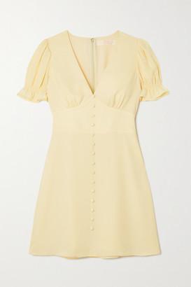 TVF Cupcake Crepe De Chine Mini Dress - Pastel yellow