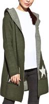 Cosmo Khaki 'I Love Peace' Pocket Hooded Cardigan