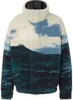 Burberry sea landscape print fleece jacket