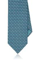 Brioni Men's Geometric-Print Silk Twill Necktie