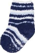 Playshoes Boy's Fleece Soft and Cuddly Anti-Slip Ankle Socks, Blue (Navy)