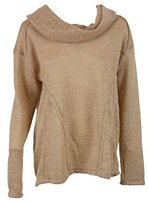 Sanctuary Womens Natural Freestyle Long Sleeve Cowl Neck Sweater