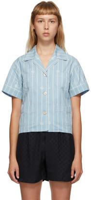 Gucci Blue GG Stripe Shirt