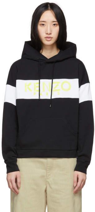 Kenzo Black and White Logo Hoodie