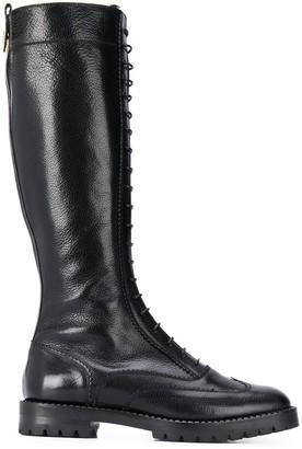 L'Autre Chose Knee Length Lace-Up Boots
