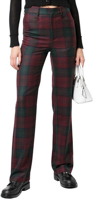 R 13 Colleen Plaid Wool Trouser Pant